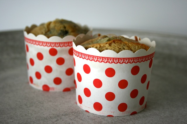 buttermilch muffins mit himbeeren